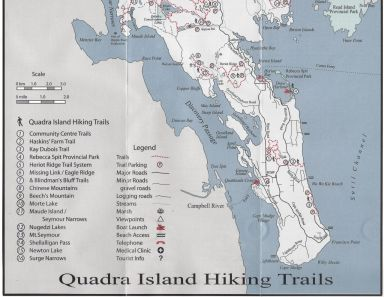 Quadra Island Trail Map South 1/2